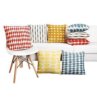 1 szt Bawełna Pokrywa Pillow Poszewka na poduszkę Poduszka turystyczna sofa Poduszka,Kwiatowy Pasiasty Geometryczny Polka Dots Słowa i