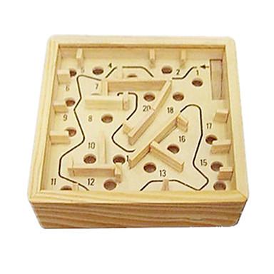 Klocki Piłeczki Labirynty i puzzle Układanka Luban Drewniany labirynt Gadżety antystresowe Zabawki Zabawne Kwadrat Drewniany 1 Sztuk Dla