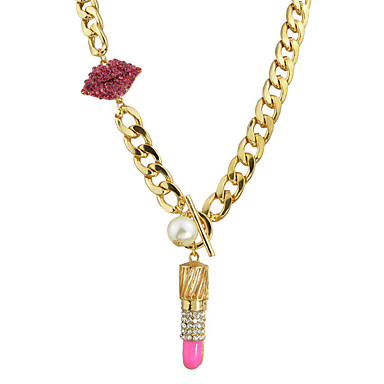 نساء قلائد الحلي مجوهرات سبيكة تصميم بسيط Rock ذهبي مجوهرات إلى فضفاض 1PC