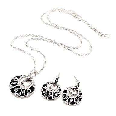Σετ Κοσμημάτων κοσμήματα πολυτελείας απομίμηση διαμαντιών Ασημί 1 Κολιέ 1 Ζευγάρι σκουλαρίκια Για Γάμου Πάρτι Καθημερινά Causal 1setΔώρα