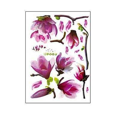 naturais românticas Mangnolia pvc parede adesivos de parede decalques de arte