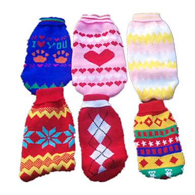 Köpek Kazaklar Köpek Giyimi Sevimli Günlük/Sade Geometrik Herhangi Bir Renk