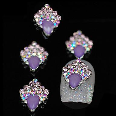 10st paars unieke glitter diy legering accessoires nail art decoratie