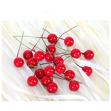 2cm 20szt małych owoców granatu symulacji jagody sztuczny kwiat czerwony christmas wiśni pręcik wesele wystrój festiwalu