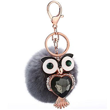 Brelok do kluczy Zabawki Brelok do kluczy Kula Ptaszek Metal Plusz 1 Sztuk Dla dziewczynek Boże Narodzenie Urodziny Walentynki Prezent