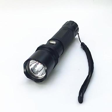 Latarki LED LED 800 lm 3 Tryb LED z baterią i ładowarką Zoomable Regulacja promienia Wodoodporne Niewielki rozmiar Superlekkie