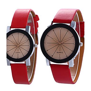 Pentru cupluri Ceas La Modă Ceas de Mână Quartz / PU Bandă Vintage Casual Cool Negru Alb Albastru Violet