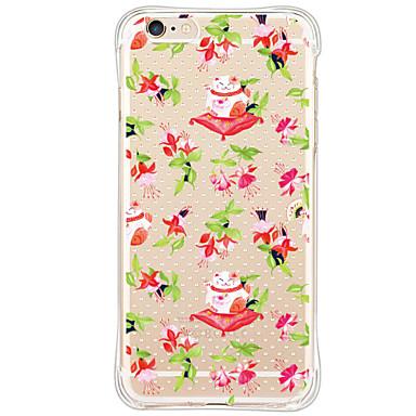 Varten Iskunkestävä Kuvio Etui Takakuori Etui Kissa Pehmeä TPU varten Apple iPhone 6s Plus/6 Plus iPhone 6s/6 iPhone SE/5s/5