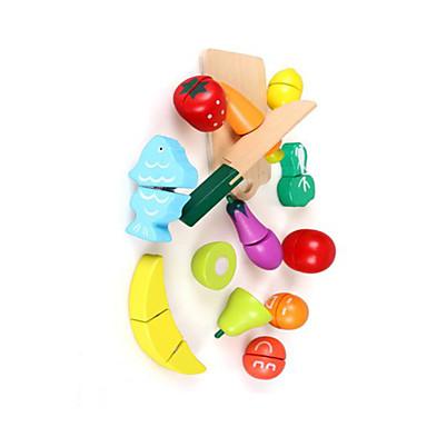 Rol Yapma Oyunu Oyuncak Mutfak Takımları Oyuncaklar Dörtgen Sebze friut Yenilik Genç Erkek Genç Kız Parçalar