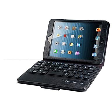 Para Case Tampa Com Suporte Com Teclado Flip Corpo Inteiro Capinha Côr Sólida Rígida Couro Ecológico para iPad Mini 3/2/1