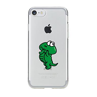 Kılıf Na Apple Etui iPhone 5 iPhone 6 iPhone 7 Przezroczyste Wzór Czarne etui Rysunek Miękkie TPU na iPhone 7 Plus iPhone 7 iPhone 6s