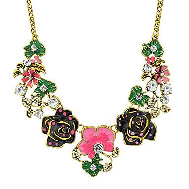 Kadın Açıklama Kolye Yapay Elmas alaşım Moda Gökküşağı Mücevher Için Düğün Parti Günlük 1pc