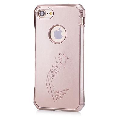 Için Şoka Dayanıklı / Süslü Pouzdro Arka Kılıf Pouzdro Solid Renkli Yumuşak TPU için AppleiPhone 7 Plus / iPhone 7 / iPhone 6s Plus/6