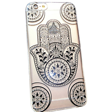 Capinha Para iPhone 6s Plus iPhone 6 Plus iPhone 6s iPhone 6 iPhone 6 iPhone 6 Plus Transparente Estampada Capa traseira Lace Impressão