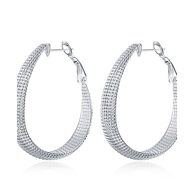 Damskie Kolczyki koła Kolczyk Modny Miedź Posrebrzany Circle Shape Geometric Shape Biżuteria Na Ślub Impreza Codzienny Casual Sport