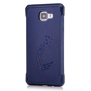 Kılıf Na Samsung Galaxy A5(2016) A3(2016) Wzór Etui na tył Solid Color Miękkie Sztuczna skóra na A5(2016) A3(2016)