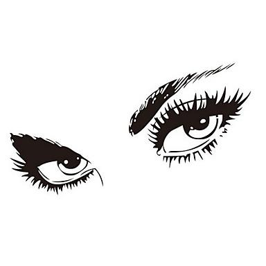 gratis verzending Hepburns ogen vinyl muur stickers zooyoo8024 muursticker 80 * 150cm waterdichte vensters home decoratie