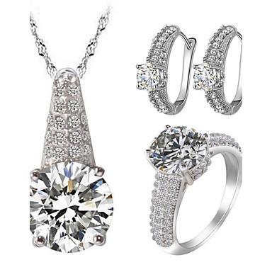 Dame Seturi de bijuterii Ștras imitație de diamant Iubire bijuterii de lux costum de bijuterii Zirconiu Zirconiu Cubic Ștras Aliaj 1