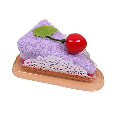 케이크 모양의 핸드 타월 가짜 디저트 수건 장식 결혼식 호의 (임의의 색)