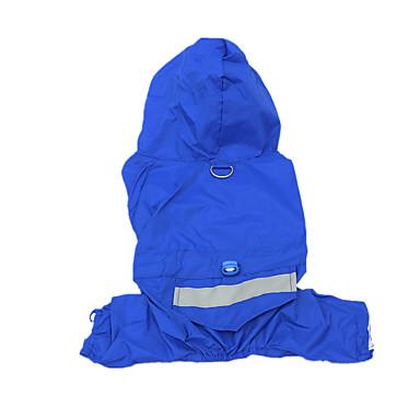 كلب معطف المطر ملابس الكلاب كاجوال/يومي مقاومة الماء صلب أصفر أحمر أزرق تمويه اللون كوستيوم للحيوانات الأليفة