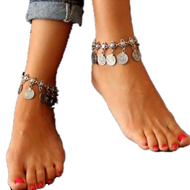 Ayak bileziği - Kadın's Gümüş Püskül / İfade / Moda Ayak bileziği Uyumluluk Günlük