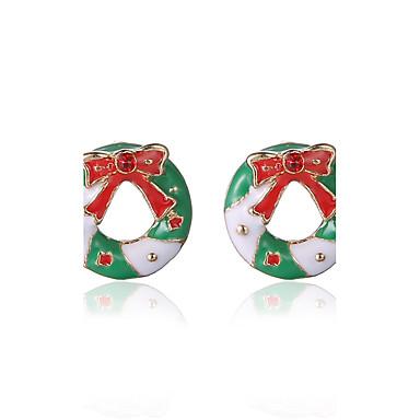 أقراط الزر اسلوب لطيف سبيكة Bowknot Shape قوس قزح مجوهرات إلى حزب يوميا هدايا عيد الميلاد 1 زوج