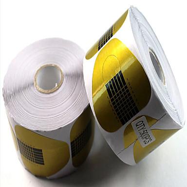 χαρτί 500pcs κατέχει πέταλο χαρτιού χωράει μανικιούρ εργαλεία ακρυλικά φωτοθεραπεία επέκτασης επεκτείνει ένα πακέτο