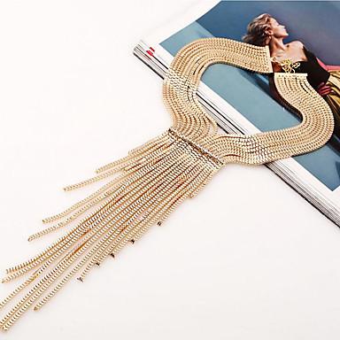 Damskie Naszyjniki choker Biżuteria Biżuteria sztuczna Diament Stop Frędzle Wielowarstwowy luksusowa biżuteria Europejski Silver Golden