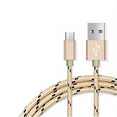 USB 2.0 Adapter kabla USB Kręcone Kable Na Samsung Huawei Lenovo Xiaomi HTC 100 cm Nylon