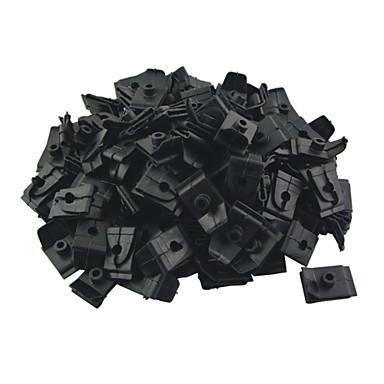 k049 100 stuks auto auto plastic 5mm gat plug sluiting kap prop staaf steun clips