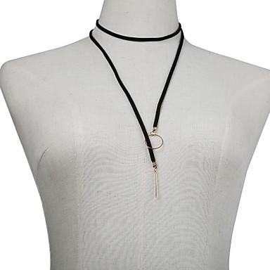 Γυναικεία Κολιέ Τσόκερ Κυκλικό Επιχρυσωμένο Ύφασμα Μοναδικό Ευρωπαϊκό Κοσμήματα Για Καθημερινά Causal