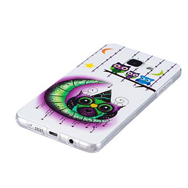 tok Για Samsung Galaxy Λάμπει στο σκοτάδι IMD Πίσω Κάλυμμα Κουκουβάγια Μαλακή TPU για A5(2016) A3(2016)