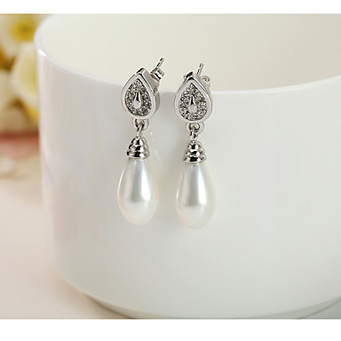 Damskie Kolczyki wiszące Biżuteria Perłowy Biżuteria Na Codzienny Casual