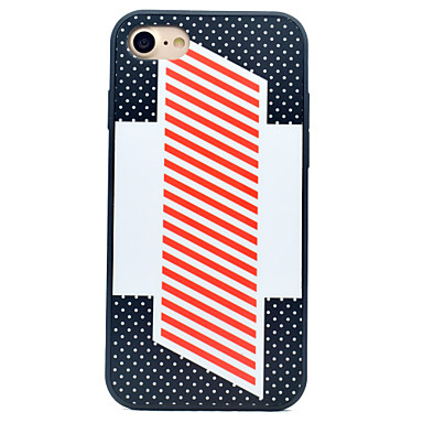 tok Για Apple iPhone 7 iPhone 7 Plus iPhone 6 Ανθεκτική σε πτώσεις Με σχέδια Πίσω Κάλυμμα Γραμμές / Κύματα Σκληρή Σιλικόνη για iPhone 7
