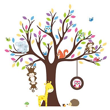 الحيوانات النباتية أزياء ملصقات الحائط لواصق حائط الطائرة لواصق حائط مزخرفة,الفينيل مادة قابل للنقل قابل اعادة الوضع قابل للغسيلتصميم