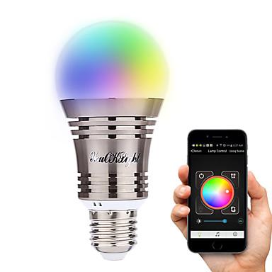 YouOKLight 6.5W 500-550 lm E26/E27 Bulbi LED Inteligenți A60(A19) 8 led-uri LED Putere Mare Bluetooth Decorativ Alb Cald Alb Rece Alb
