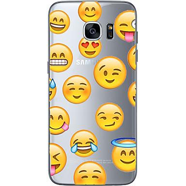 Pouzdro Uyumluluk Samsung Galaxy S7 edge S7 Ultra İnce Şeffaf Temalı Arka Kapak Karton Yumuşak TPU için S7 edge S7 S6 edge plus S6 edge S6