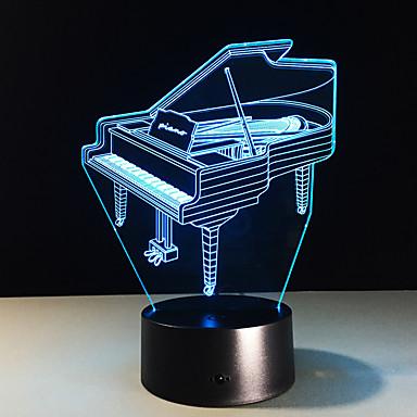 1 szt. 3D Nightlight Zmieniająca Kolor Niewielki rozmiar Artystyczny Modern / Contemporary