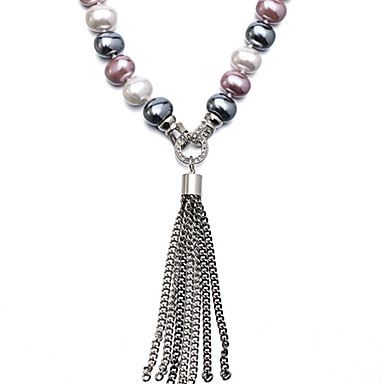 Γυναικεία Κολιέ Τσόκερ Μαργαριτάρι Όστρακο Κυκλικό Πολύχρωμα κοσμήματα πολυτελείας Κοσμήματα Για Καθημερινά