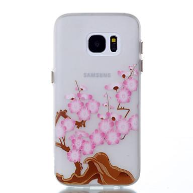 Na Etui Pokrowce Świecące w ciemności Wzór Etui na tył Kılıf Kwiaty Miękkie Poliuretan termoplastyczny na Samsung Galaxy S8 S8 Plus S7