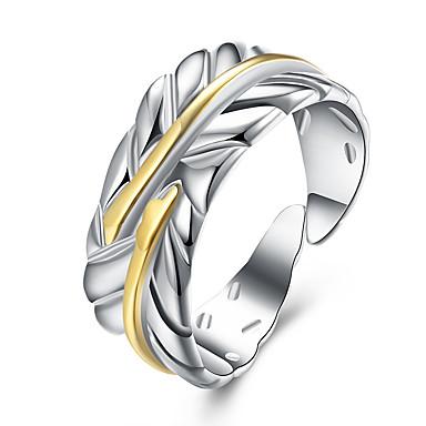 للمرأة نحاس Leaf Shape خاتم - Leaf Shape أساسي ذهبي حلقة من أجل حزب المكتب \ الوظيفة يوميا فضفاض