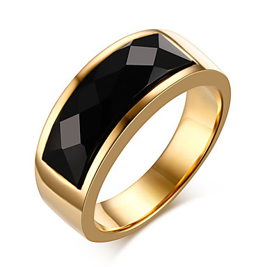 Εντυπωσιακά Δαχτυλίδια Δαχτυλίδι Onyx Αχάτης Τιτάνιο Ατσάλι Μοντέρνα Χρυσό Κοσμήματα Καθημερινά Causal 1pc