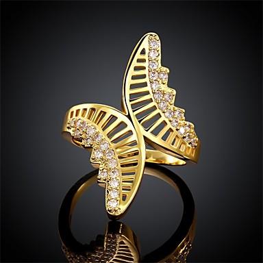 Naisten Sormus Cubic Zirkonia Eurooppalainen Zirkoni Cubic Zirkonia Kupari Butterfly Animal Korut Päivittäin Kausaliteetti