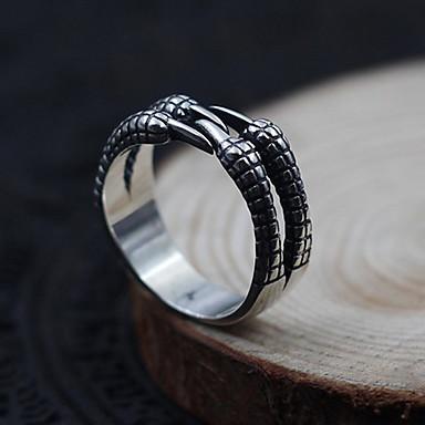 للرجال نساء خاتم مجوهرات مخصص قابل للتعديل فتح فضة الاسترليني مجوهرات من أجل يوميا فضفاض