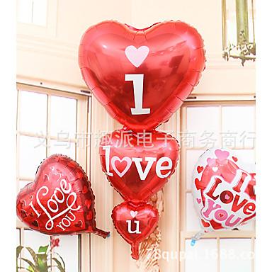 süper geniş üç kalp i kalbi alüminyum filmi balon düğün mekan dekorasyon balonları