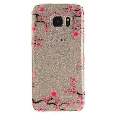 Kılıf Na Samsung Galaxy S7 edge S7 IMD Przezroczyste Wzór Etui na tył Kwiaty Miękkie TPU na S7 edge S7 S3
