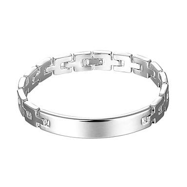 Damskie Bransoletki i łańcuszki na rękę Spersonalizowane Artystyczny Modny List Miedź Posrebrzany Geometric Shape Biżuteria Prezenty