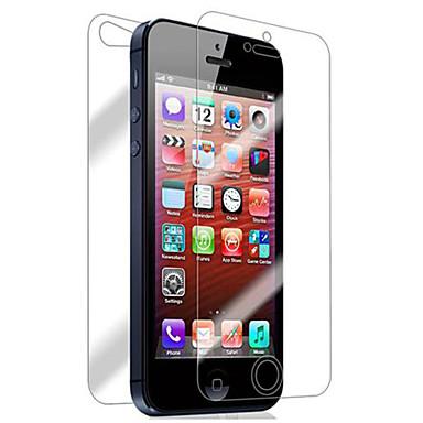 Недорогие Защитные пленки для iPhone SE/5s/5c/5-Защитная плёнка для экрана для Apple iPhone 6s / iPhone 6 / iPhone SE / 5s 2 штs Защитная пленка для экрана и задней панели