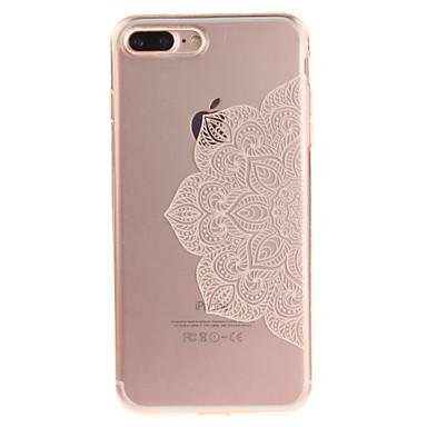 Için IMD Şeffaf Temalı Pouzdro Arka Kılıf Pouzdro Çiçek Yumuşak TPU için AppleiPhone 7 Plus iPhone 7 iPhone 6s Plus/6 Plus iPhone 6s/6