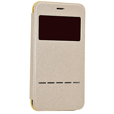 Kılıf Na Apple iPhone 7 iPhone 7 Plus iPhone 6 Z okienkiem Flip Futerał Solid Color Twarde Sztuczna skóra na iPhone 7 Plus iPhone 7